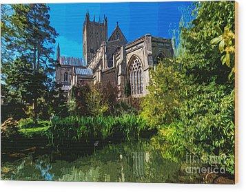 Bishops Garden Behind Cathedral Wood Print