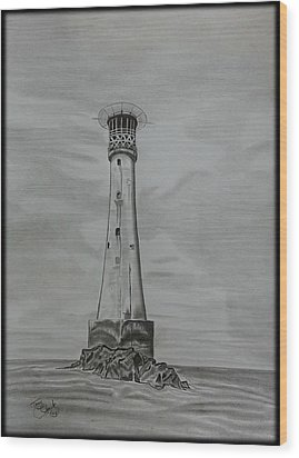 Bishops Rock Lighthouse Wood Print