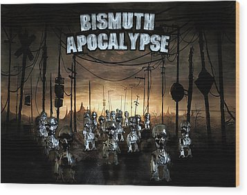 Wood Print featuring the photograph Bismuth Apocalypse by Tarey Potter