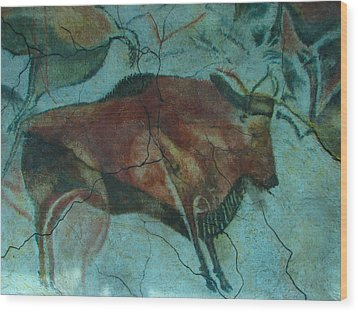 Bison Buffalo Wood Print by Unknown