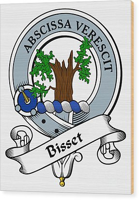 Bisset Clan Badge Wood Print by Heraldry