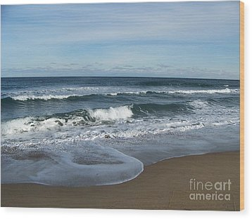 Wood Print featuring the photograph Winter Beach  by Eunice Miller