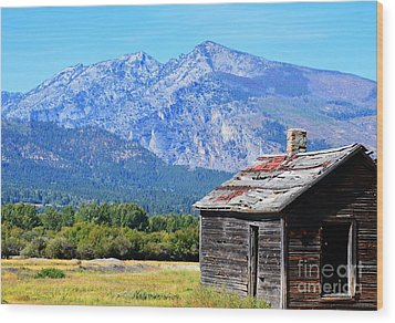 Wood Print featuring the photograph Bitterroot Valley Cabin by Joseph J Stevens