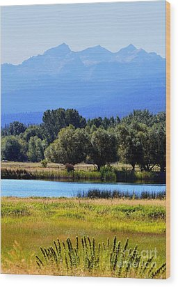 Wood Print featuring the photograph Bitterroot Valley Montana by Joseph J Stevens