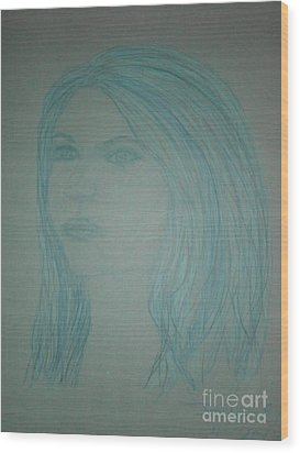 Biviana In Blue Wood Print by James Eye
