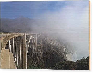 Wood Print featuring the photograph Big Sur - Bixby Bridge by Francesco Emanuele Carucci