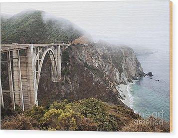 Bixby Bridge II Wood Print by Jenna Szerlag