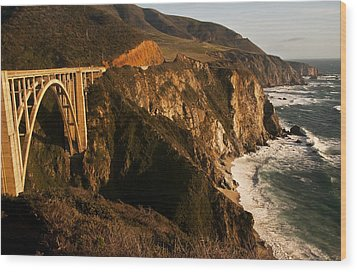 Wood Print featuring the photograph Bixby Bridge by Lee Kirchhevel