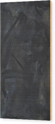 Black Abstract Wood Print by Wayne Carlisi