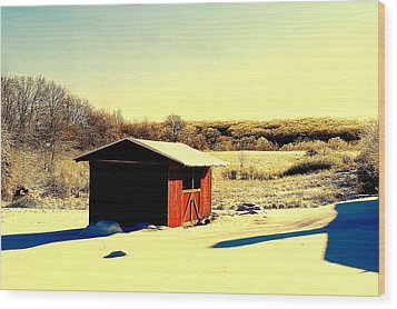 Black And Color Wood Print by Frozen in Time Fine Art Photography