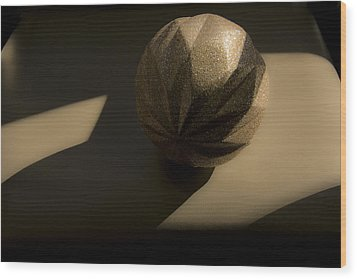 Wood Print featuring the photograph Study Of Shadows And Natural Light. by Renee Anderson