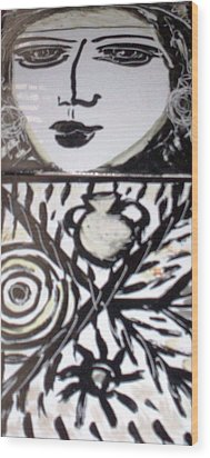 Black And White Wood Print by Catherine Walker