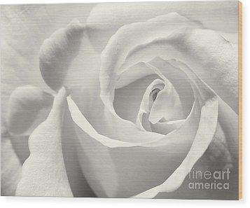 Black And White Curves Wood Print by Sabrina L Ryan