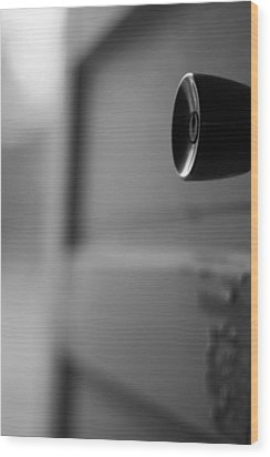 Black And White Door Handle Wood Print