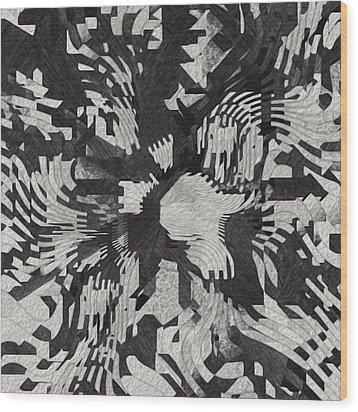 The Valley Below Wood Print by Jack Zulli