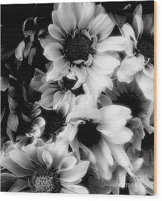 Black And White Wood Print by Kathleen Struckle