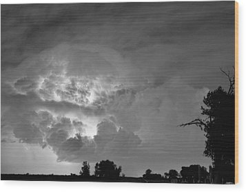 Black And White Light Show Wood Print by James BO  Insogna