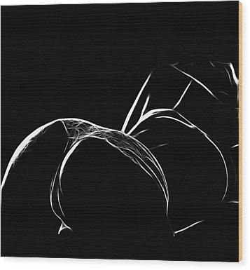 Black And White Pleasure Wood Print by Steve K