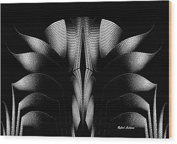 Wood Print featuring the mixed media Black And White by Rafael Salazar