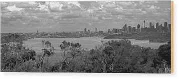 Wood Print featuring the photograph Black And White Sydney by Miroslava Jurcik