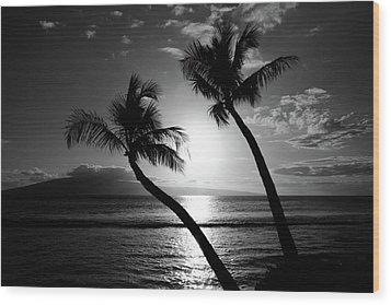 Black And White Tropical Wood Print by Pierre Leclerc Photography