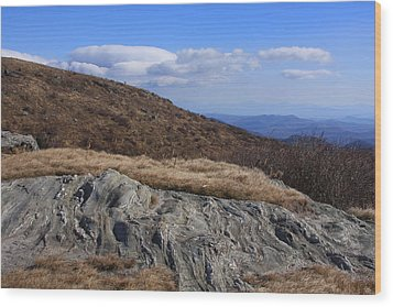 Wood Print featuring the photograph Black Balsam Knob-north Carolina by Mountains to the Sea Photo