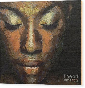 Black Beauty Wood Print by Dragica  Micki Fortuna