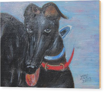 Black Beauty Wood Print by Lucille  Valentino