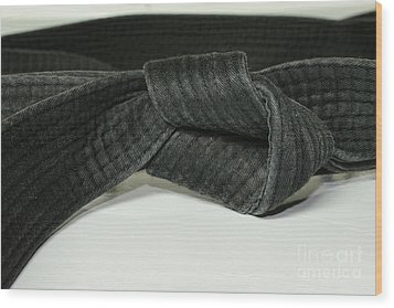 Black Belt Wood Print by Paul Ward