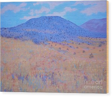 Black Butte Wood Print by Suzanne McKay