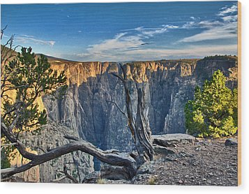 Wood Print featuring the photograph Black Canyon Fading Light by Eric Rundle