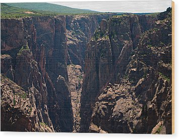 Wood Print featuring the photograph Black Canyon The Narrows  by Eric Rundle