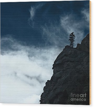 Wood Print featuring the photograph Black Cliff by Dana DiPasquale