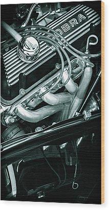 Black Cobra - Ford Cobra Engines Wood Print by Steven Milner