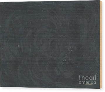 Black Color Of Energy Wood Print by Ania M Milo