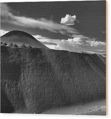Black Dune Wood Print
