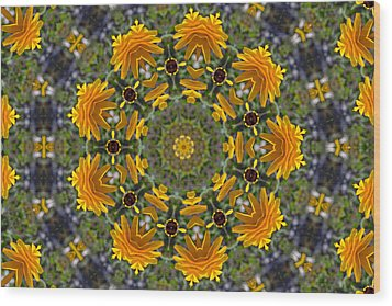 Black Eyed Susan Mandala #1 Wood Print