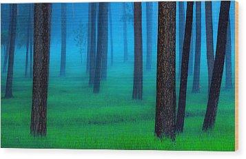 Black Hills Forest Wood Print
