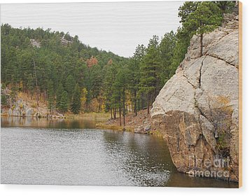 Wood Print featuring the photograph Black Hills Lake by Mary Carol Story