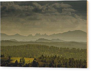 Black Hills Layers Wood Print