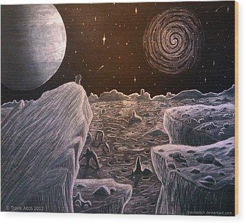Black Hole Suicide Wood Print by Travis Hunt