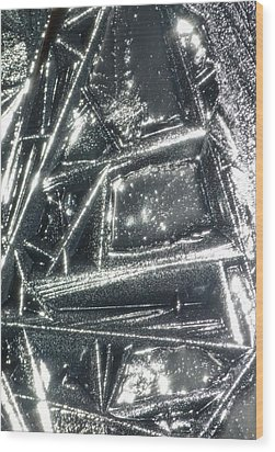 Wood Print featuring the photograph Black Ice by Jane Ford