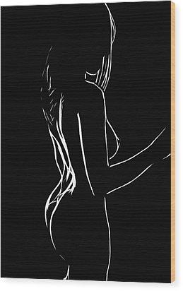 Black Is Beautiful Wood Print by Steve K