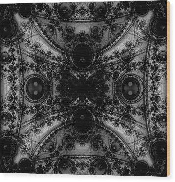 Black Lace Wood Print