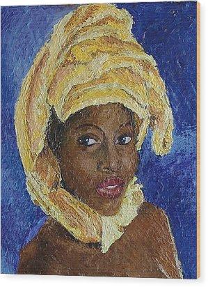 Black Lady No. 6 Wood Print by Janet Ashworth