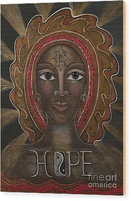 Black Madonna - Hope Wood Print