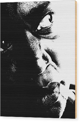 Wood Print featuring the photograph Black Miracle Portrait 12 by Cleaster Cotton