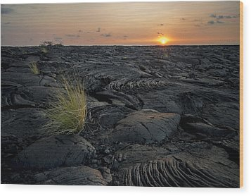 Wood Print featuring the photograph Big Island - Black Ocean by Francesco Emanuele Carucci