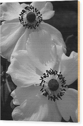 Black On White Wood Print