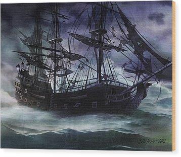 Black Pearl - Troubles Again Wood Print
